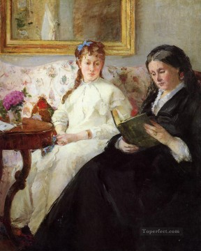 Berthe Morisot Painting - Mother and Sister of the Artist Berthe Morisot