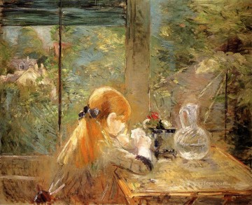 Berthe Morisot Painting - On The Veranda Berthe Morisot