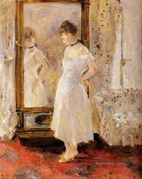glass Painting - The Cheval Glass Berthe Morisot