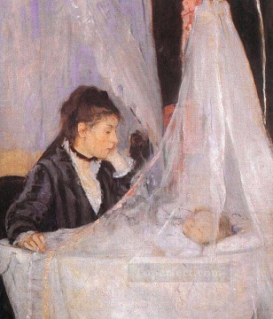Berthe Morisot Painting - The Cradle Berthe Morisot