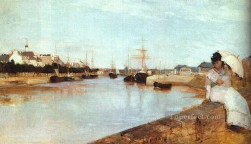 Berthe Morisot Painting - The Harbor at Lorient Berthe Morisot