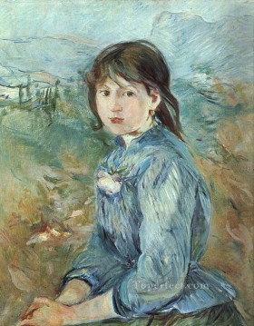 Berthe Morisot Painting - The Little Girl from Nice Berthe Morisot