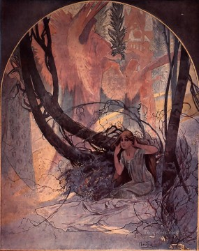 Easter Chimes Awaken Nature 1896print Czech Art Nouveau distinct Alphonse Mucha Oil Paintings
