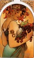 Fruit 1897 litho Czech Art Nouveau distinct Alphonse Mucha