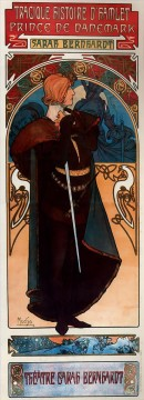 Hamlet 1899 Czech Art Nouveau distinct Alphonse Mucha Oil Paintings