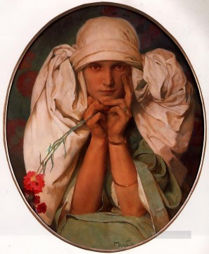 Jaroslava 1920 Czech Art Nouveau Alphonse Mucha Oil Paintings