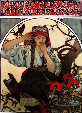 Alphonse Mucha Painting - Moravian Teachers Choir Czech Art Nouveau distinct Alphonse Mucha