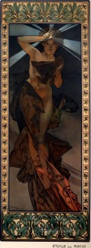 Morning Star 1902 litho Czech Art Nouveau distinct Alphonse Mucha Oil Paintings