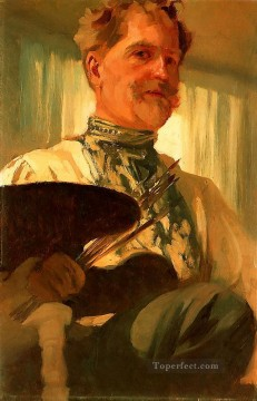 Self Portrait 1907 Czech Art Nouveau Alphonse Mucha Oil Paintings