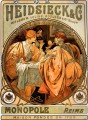 Heidsieck and Co 1901 Czech Art Nouveau distinct Alphonse Mucha