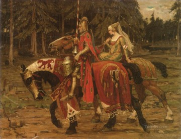 Heraldic Chivalry Czech Art Nouveau Alphonse Mucha Oil Paintings