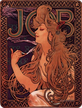 1896 Oil Painting - JOB 1896 Czech Art Nouveau distinct Alphonse Mucha