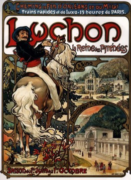 Luchon 1895 Czech Art Nouveau distinct Alphonse Mucha Oil Paintings
