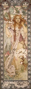 Alphonse Mucha Painting - Maud Adams as Joan of Arc Czech Art Nouveau distinct Alphonse Mucha