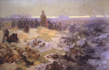 Alphonse Mucha Painting - After the Battle of Grunwald Alphonse Mucha