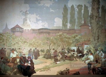 Skola Ivancice Alphonse Mucha Oil Paintings
