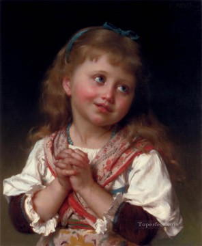 Emile Munier Painting - May I Academic realism girl Emile Munier