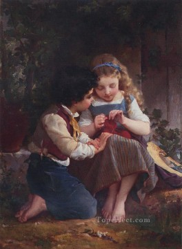 special moment Academic realism girl Emile Munier Decor Art
