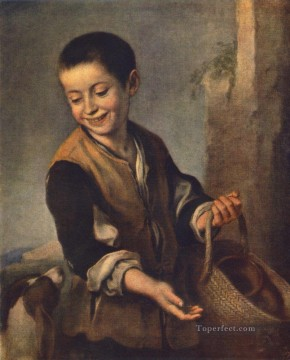 spanish spain Painting - Boy with a Dog Spanish Baroque Bartolome Esteban Murillo