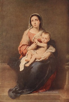 spanish spain Painting - Madonna and Child 1670 Spanish Baroque Bartolome Esteban Murillo