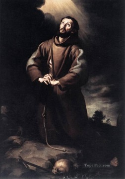 St Francis of Assisi at Prayer Spanish Baroque Bartolome Esteban Murillo Oil Paintings