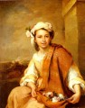 The Flower Girl Spanish Baroque Bartolome Esteban Murillo
