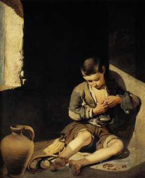 spanish spain Painting - The Young Beggar Spanish Baroque Bartolome Esteban Murillo