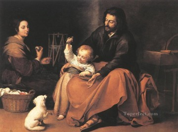 The Holy Family 1650 Spanish Baroque Bartolome Esteban Murillo Oil Paintings