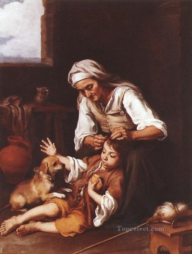 Toilette Art - The Toilette Spanish Baroque Bartolome Esteban Murillo