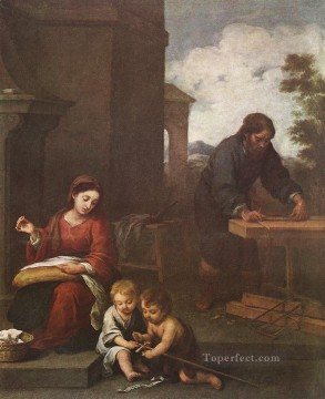 baroque - Holy Family with the Infant St John Spanish Baroque Bartolome Esteban Murillo