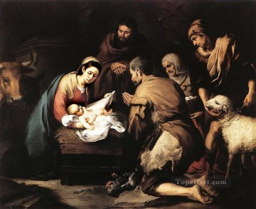 Adoration Art - Adoration of the Shepherds Spanish Baroque Bartolome Esteban Murillo