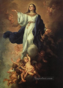 Virgin Painting - Assumption of the Virgin Spanish Baroque Bartolome Esteban Murillo