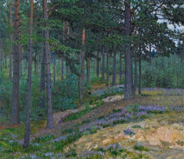 Artworks by 350 Famous Artists Painting - BLUEBELLS Nikolay Bogdanov Belsky