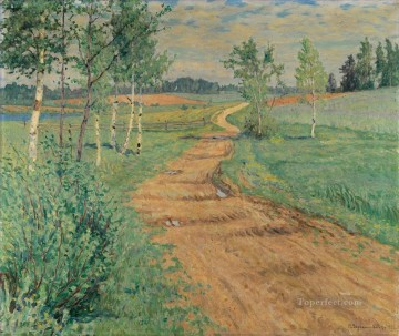 Nikolay Petrovich Bogdanov Belsky Painting - COUNTRY PATH Nikolay Bogdanov Belsky