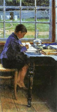 Nikolay Petrovich Bogdanov Belsky Painting - doing the lessons Nikolay Bogdanov Belsky