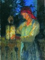 girl with latern Nikolay Bogdanov Belsky