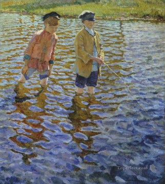 Artworks by 350 Famous Artists Painting - boys 1 Nikolay Bogdanov Belsky