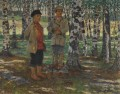 BOYS IN A BIRCH FOREST Nikolay Bogdanov Belsky