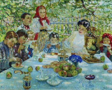 Nikolay Petrovich Bogdanov Belsky Painting - teacher s birthday 1 Nikolay Bogdanov Belsky