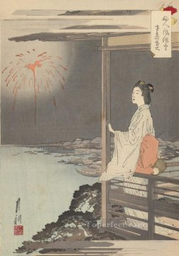 women Painting - women s customs and manners 1895 1 Ogata Gekko Ukiyo e