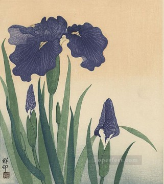 flowering iris 1934 Ohara Koson Shin hanga Oil Paintings