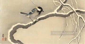 giant tit on snowy branch Ohara Koson Shin hanga Oil Paintings