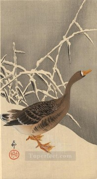 goose on the snow Ohara Koson Shin hanga Oil Paintings