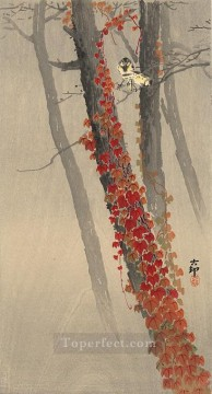 great tits on a branch Ohara Koson Shin hanga Oil Paintings