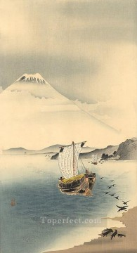 mount fuji Ohara Koson Shin hanga Oil Paintings