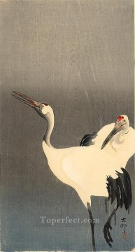 two white cranes Ohara Koson Shin hanga Oil Paintings
