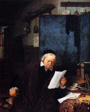 painter Oil Painting - Lawyer In His Study Dutch genre painters Adriaen van Ostade