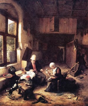 Painters Art - Cottage Dutch genre painters Adriaen van Ostade