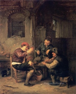 painter Canvas - Inn Dutch genre painters Adriaen van Ostade