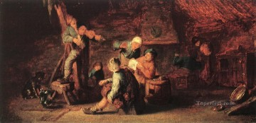 Village Feast Dutch genre painters Adriaen van Ostade Oil Paintings